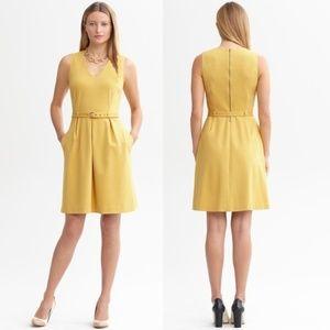 Banana Republic Ponte Dress in Amber Glow